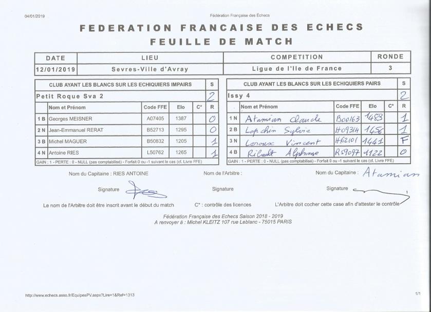 sèvres2contre issy 4 d4hds ronde 3 20190112